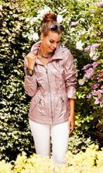 Blush pink jacket for spring and summer